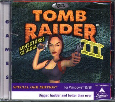 TOMB RAIDER III SE (Adventures in India) CD-ROM Windows 95/98 - NEW CD in SLEEVE