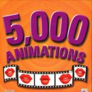 5,000 ANIMATIONS CD-ROM for Windows - NEW CD in SLEEVE