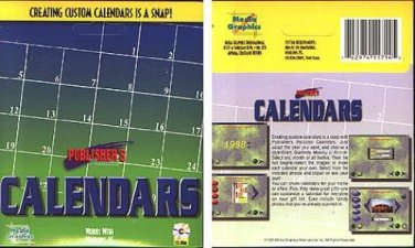 Publisher's Paradise CALENDARS PC-CD for Windows 95 - NEW CD in SLEEVE