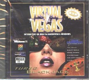 Virtual Vegas - Turbo Blackjack CD-ROM for Win/Mac - NEW CD in SLEEVE