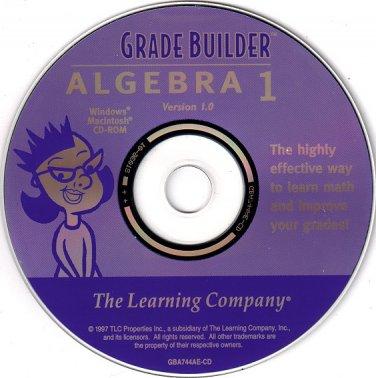 Grade Builder Algebra 1 CD-ROM for Win/Mac - NEW CD in SLEEVE