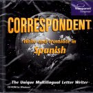 Correspondent - Write and Translate in Spanish PC-CD Windows - NEW CD in SLEEVE