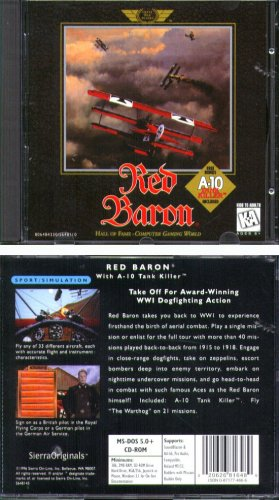 Red Baron + A-10 Tank Killer PC CD-ROM for DOS - NEW CD in SLEEVE