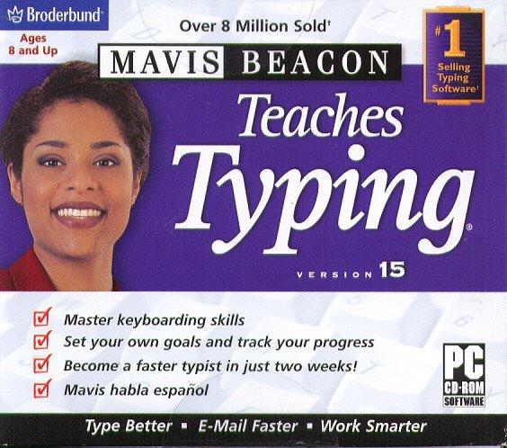 Mavis Beacon Teaches Typing 15 CD-ROM for Windows 2K/XP/Vista - NEW CD in SLEEVE