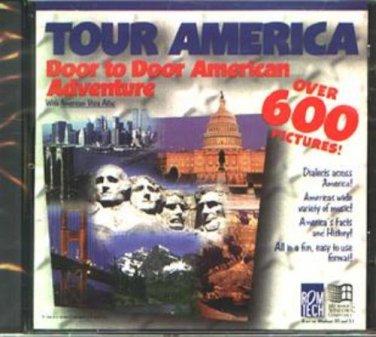 TOUR AMERICA: Door-to-Door American Adv. CD-ROM for Windows - NEW CD in SLEEVE