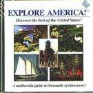 EXPLORE AMERICA! CD-ROM for Windows - NEW CD in SLEEVE