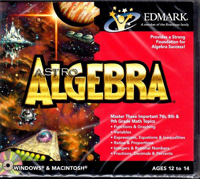 Mighty Math Astro Algebra CD-ROM for Win/Mac - NEW CD in SLEEVE