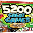 5200+ Great Games PC-DVD for Windows ME/XP - NEW DVD in SLEEVE