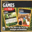 National Geographic Game 2 Pack: Contraband Mystery  & Dogtown PC-CD - NEW in JC
