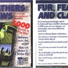 Fur, Feathers and Claws CD-ROM for Windows - NEW CD in SLEEVE