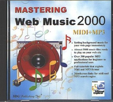 Mastering Web Music 2000 CD-ROM for Windows - NEW CD in SLEEVE