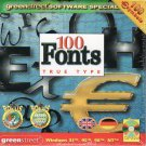 100 FONTS (True Type) CD-ROM for Windows - NEW CD in SLEEVE