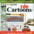 100 Cartoons CD-ROM for Windows - NEW CD in SLEEVE