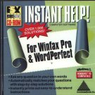 Instant Help! Winfax Pro & WordPerfect CD-ROM for Windows - NEW in JC
