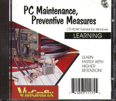 ViaGrafix: Learning PC Maintenance & Preventive Measures CD-ROM - New Sealed JC