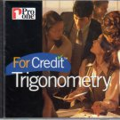 For Credit: Trigonometry CD-ROM for Windows - NEW in Jewel Case