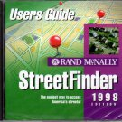 Rand McNally StreetFinder 1998 (2CDs) for Windows - NEW Sealed Jewel Case