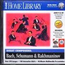 Great Composers: Bach, Schumann & Rakhmaninov CD-ROM Win/Mac - NEW CD in SLEEVE