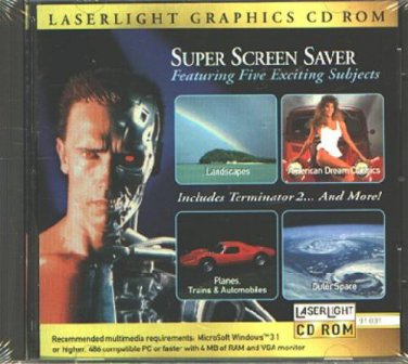 Super Screen Saver CD-ROM for Windows - NEW CD in SLEEVE