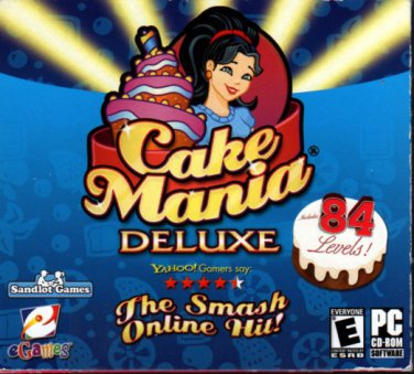 Cake Mania Deluxe CD-ROM for Windows - NEW Sealed Flat Pack