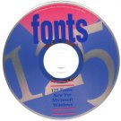 125 Fonts CD-ROM for Windows - NEW CD in SLEEVE