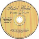 Solid Gold Fonts & More (5,000+) CD-ROM for Windows - NEW CD in SLEEVE