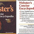 Webster's Concise Encyclopedia (1996) CD-ROM for Windows - NEW CD in SLEEVE