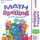 Math & Spelling with Monker (Ages 6-8) CD-ROM for Win/Mac - NEW in Retail Box