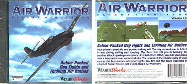 Air Warrior Version 1.5 (PC-CD, 1996) for DOS - NEW CD in SLEEVE