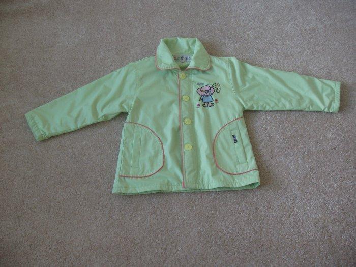 Green Little Girl Coat kid size 7-8