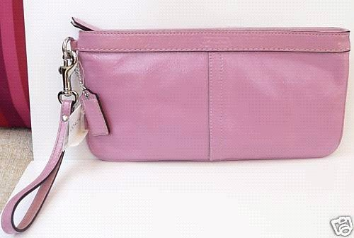 Coach Authentic Patent Leather Clutch/Wristlet  Purse Bag F13269 New with Tag