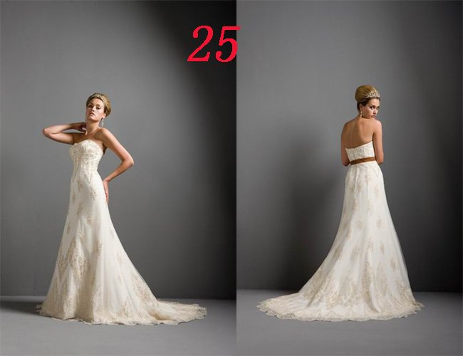 Sexy A LINE STYLE Wedding Dress Bridesmaid Bridal Gown Custom