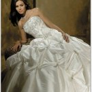 WHITE Strapless Style LACE Wedding Dress Bridesmaid Bridal Gown Custom