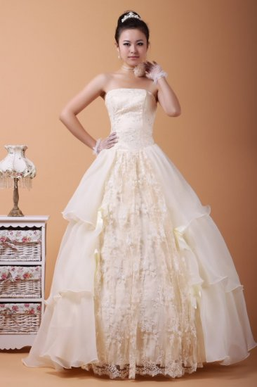 TULLE Style LACE Wedding Dress Bridesmaid Bridal Gown Custom