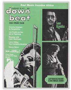 Down Beat - February 18, 1971 - Ornette Coleman/Lee Konitz/Captain Beefheart cover