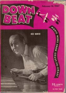 Down Beat - February 12, 1947 - Red Norvo cover