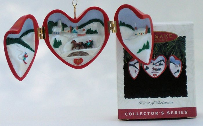 Hallmark Ornament Heart of Christmas 1993 #4 Locket
