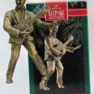 Hallmark Ornament Elvis 1992 Presley Brass Music King