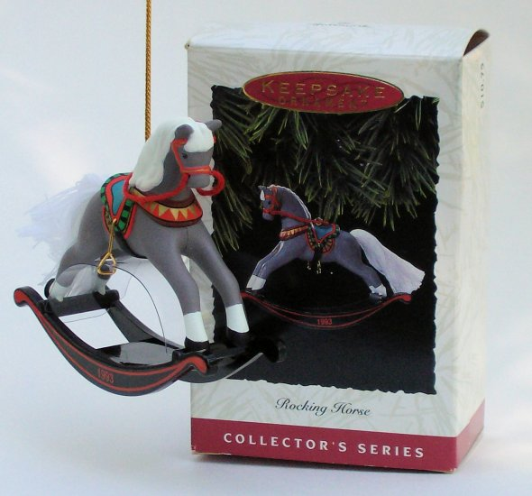 Hallmark Ornament Rocking Horse 1993 #13 Christmas Toy
