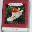 Hallmark Ornament Home for Christmas 1993 Baseball Clip