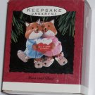 Hallmark Ornament Mom and Dad 1993 Fox Reindeer Slipper