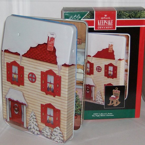 Hallmark Night Before Christmas Tin Miniature House #1