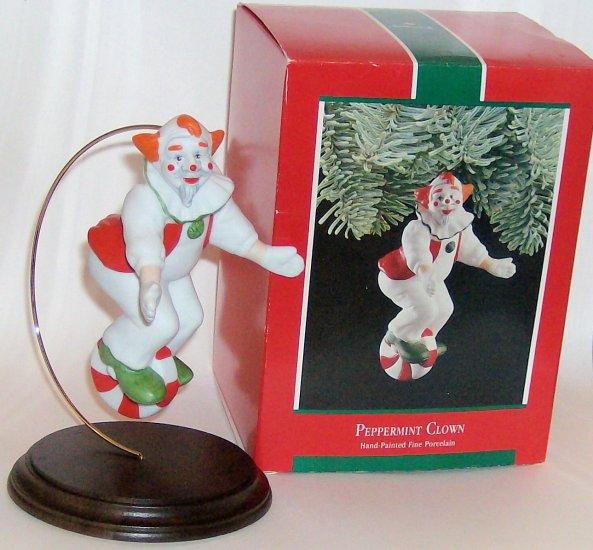 Hallmark Ornament 1989 Peppermint Clown - Porcelain NIB