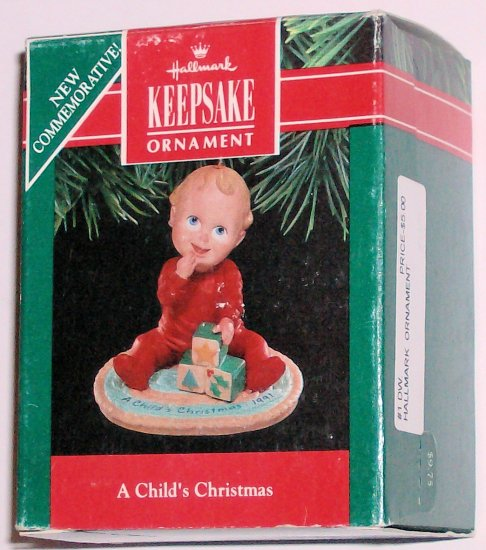 Hallmark Ornament A Child's Christmas 1991 Baby Toddler