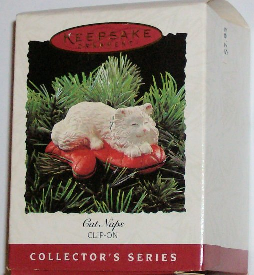 Hallmark Ornament Cat Naps 1995 - Clip On #2 Kitten