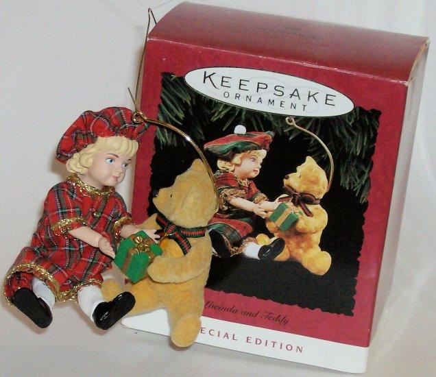 Hallmark Ornament Lucinda and Teddy 1994 - Bear Doll