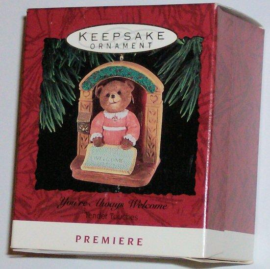 Hallmark Ornament You're Always Welcome - Premiere Bear