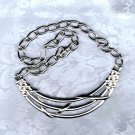 PRICES SLASHED-MONET VINTAGE SILVERTONE CHOKER NECKLACE