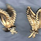PRICES SLASHED-UNSIGNED BEAUTY GOLDTONE VINTAGE EARRINGS