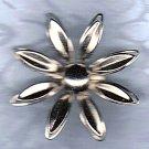 PRICES SLASHED-VINTAGE 1940-1960 SILVERTONE FLOWER BROOCH PIN